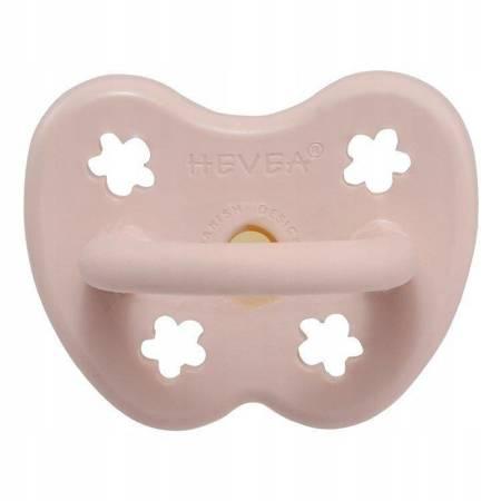 Anatomiczny smoczek kauczukowy Powder Pink 0m+ HEVEA