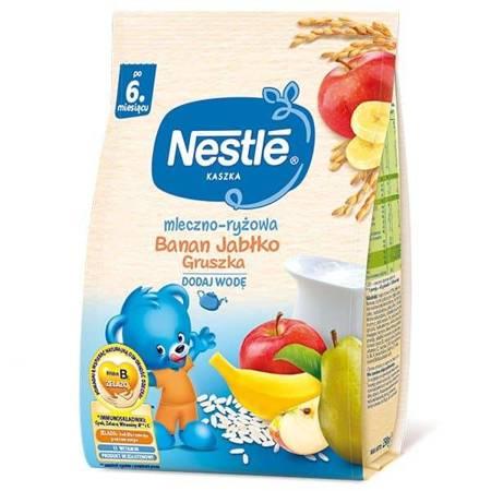 Kaszka mleczno-ryżowa Jabłko Banan Gruszka 6m+ 230g Nestle