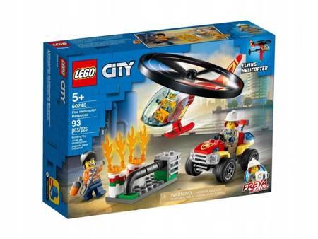LEGO 60248 City Helikopter strażacki leci na ratun