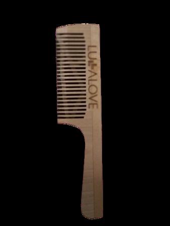 Lullalove Grzebień Do Włosów Z Drewna Naturalny