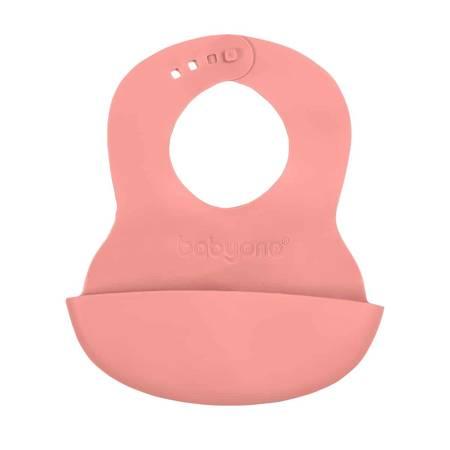 Miękki śliniak z kieszonką i regulowanym zapięciem 835 Różowy BabyOno