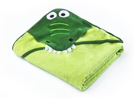 Okrycie Kąpielowe Z Kapturem 100×100cm Krokodyl Green Sensillo
