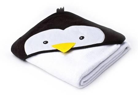 Okrycie Kąpielowe Z Kapturem 100×100cm Pingwin White Sensillo